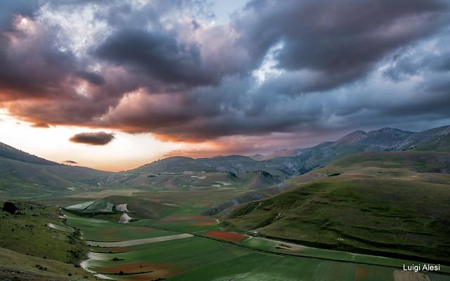 Sibillini - tramonto sul Pian Perduto