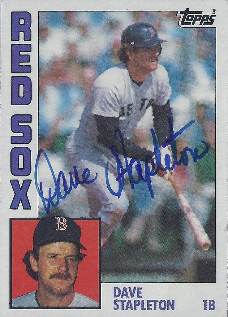 1984 Topps Dave Stapleton 653 First Base Autographe Flickr