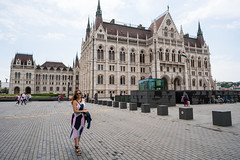 Deya at the Hungarian Parliament Building
