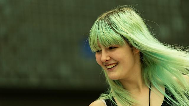 Her Green Alien Hair.