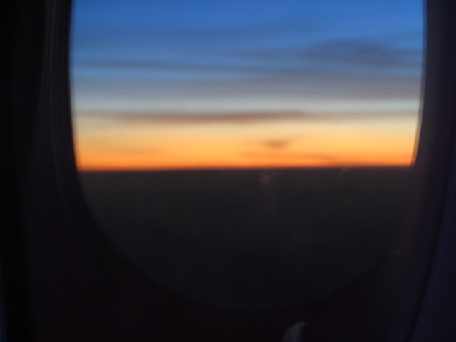 Sunrise 6th August, 2018, on the way to Doha, Qatar