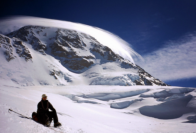 Rick Marchant at Windy Corner  with Denali behind