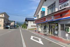 当駅近くのミニスーパーヒロセ、はす向かいが横田タクシー