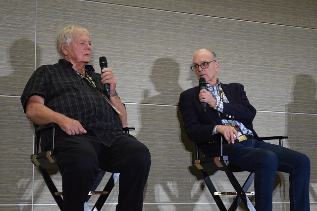 Gary Lockwood and Keir Dullea on stage at Fan Expo Boston 2018