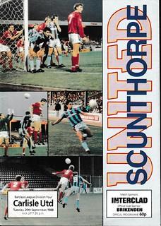 Scunthorpe United V Carlisle United 20-09-88 | by cumbriangroundhopper