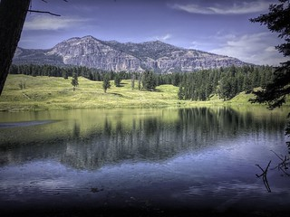 Trout Lake Reflections-Edit   by alnbbates
