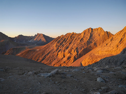 Morning alpenglow looking south from Junction Pass | by snackronym