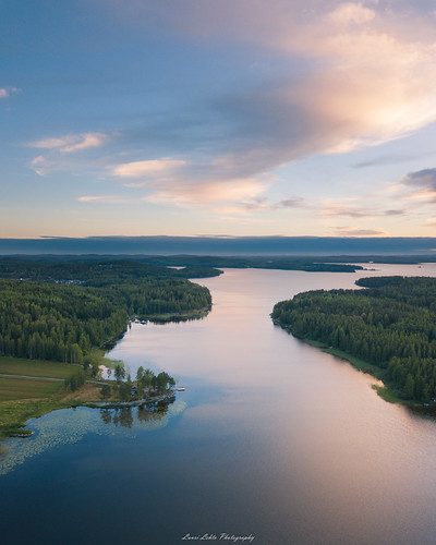 suomi finland jyväskylä vaajakoski nature landscape summer clouds morning sunrise trees forest water lake reflections sky dji mavic pro fc220 aerial drone flight above awesome earth europe