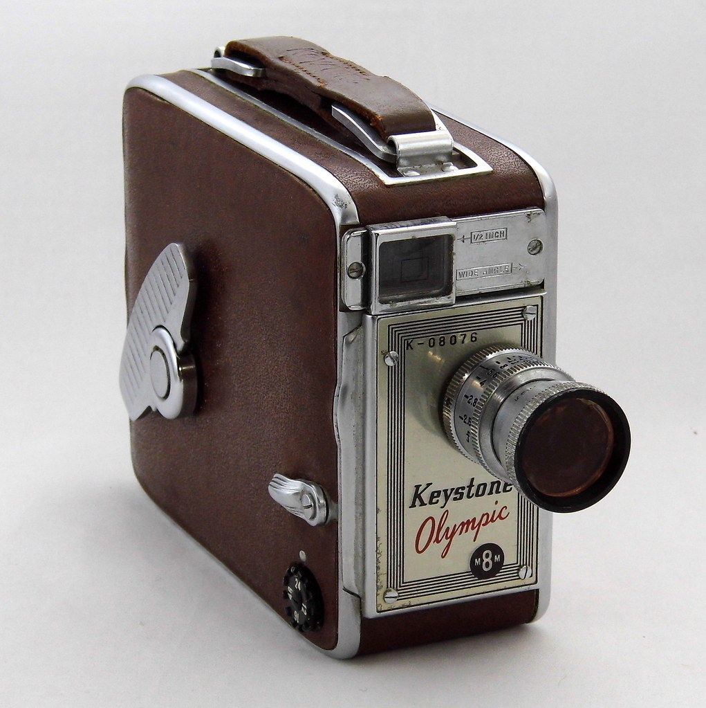Vintage Keystone Olympic 8mm Roll Film Home Movie Camera