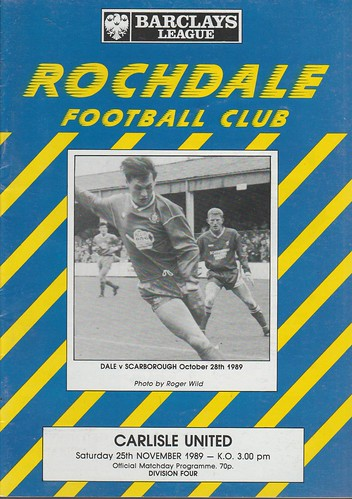 Rochdale V Carlisle 25-11-89   by cumbriangroundhopper