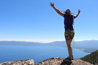 1539 Vicki taking in the view of southern Lake Tahoe from the summit of Jakes Peak | by _JFR_