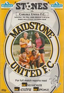 Maidstone United V Carlisle United 5-5-90   by cumbriangroundhopper