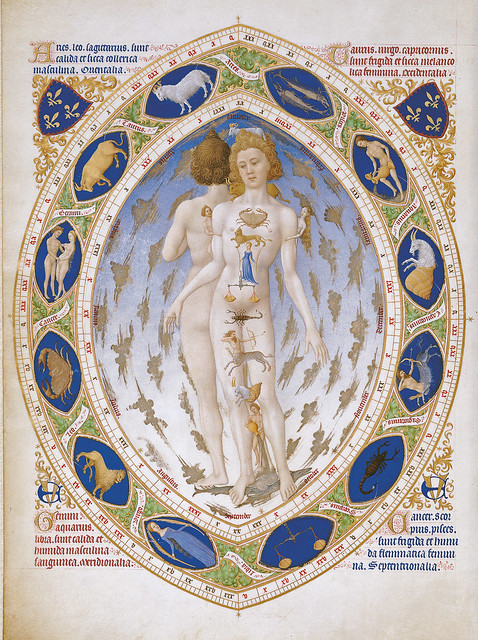 The influence of zodiacal signs on the human body