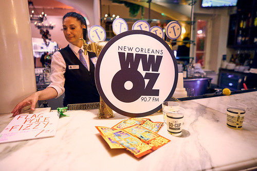 Bar at the WWOZ Groove Gala on Sep. 6, 2018. Photo by Eli Mergel.