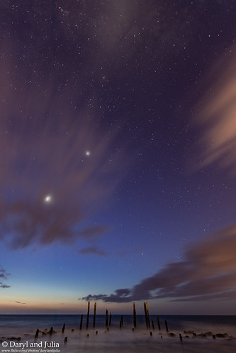 2018 astro astrophotography canon portwilungajettypoles wallpaper sil silhouette clouds sunset venus collective stars night ocean water beach sea
