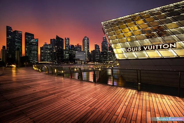 Bayfront of Marina Bay Sand at Night *Corners of Singapore*