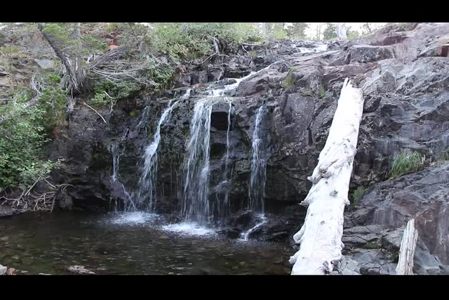 2727 Video of the waterfall just below Susie Lake just off the Pacific Crest Trail