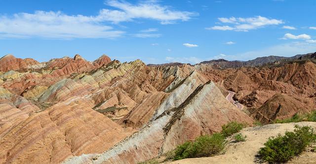 Rainbow Mountains of China,