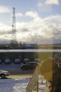 Parking by railway station Zvenigorod