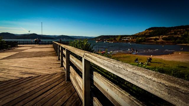 Lake fence.