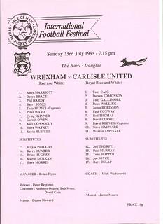 65.Wrexham V Carlisle IOM 23-7-95 | by cumbriangroundhopper