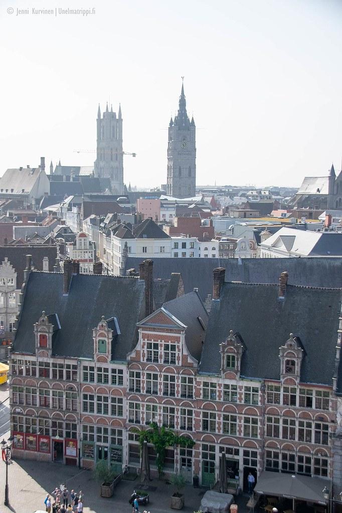 Kaupunkinäkymä Gravensteenin linnan katolta