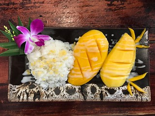 Mango sticky rice | by mypassengerdiaries