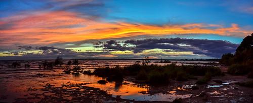 lakeerie rockpoint ontario sunset