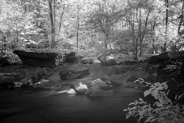 Powder Mill Run Waterfalls In Infrared