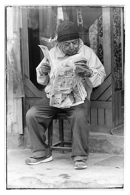 Reading the morning paper