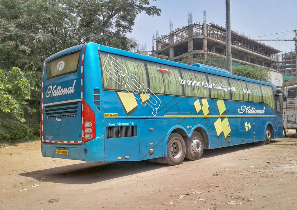 National Travels Multi Axle Volvo B9r Sleeper Coach Bus