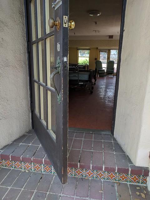 Entering the Little Hospital building, Rockhaven Sanitarium