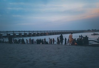 Kotri Barrage is a barrage on the Indus River between Jamshoro and Hyderabad in the Sindh province of Pakistan. The barrage was completed in 1955. Kotri Barrage is used to control water flow in the River Indus for irrigation and flood control purposes. .