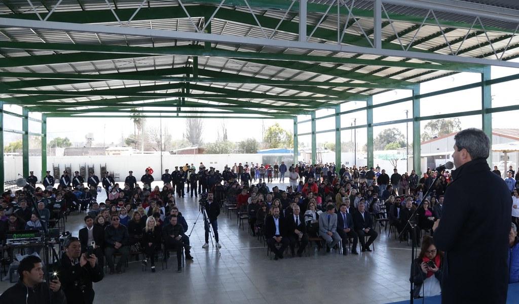 2018-08-24 PRENSA: Nuevo techo para el Playon polideportivo parroquial de los Berros.