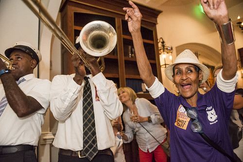 Treme Brass Band and Dee Lindsey at the WWOZ Groove Gala on September 6, 2018. Photo by Ryan Hodgson-Rigsbee www.rhrPhoto.com