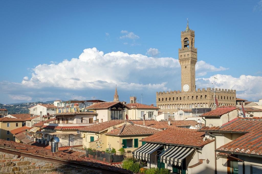 Palazzo Vecchio From The La Terrazza Rooftop Hotel Contine