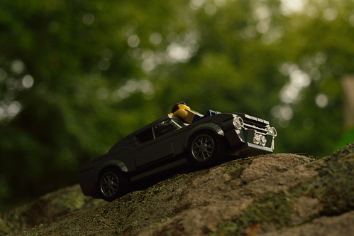 nikon d3200 adventurerjoe lego project365 minifigure outside outdoors trees car relax gazing sunset