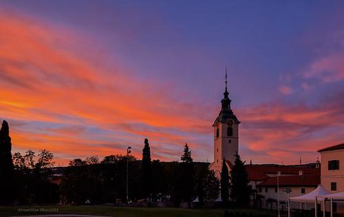 rijeka trsat primorskogoranska croatia zalazak trsatskosvetište crkva landscape sunset nebo sky