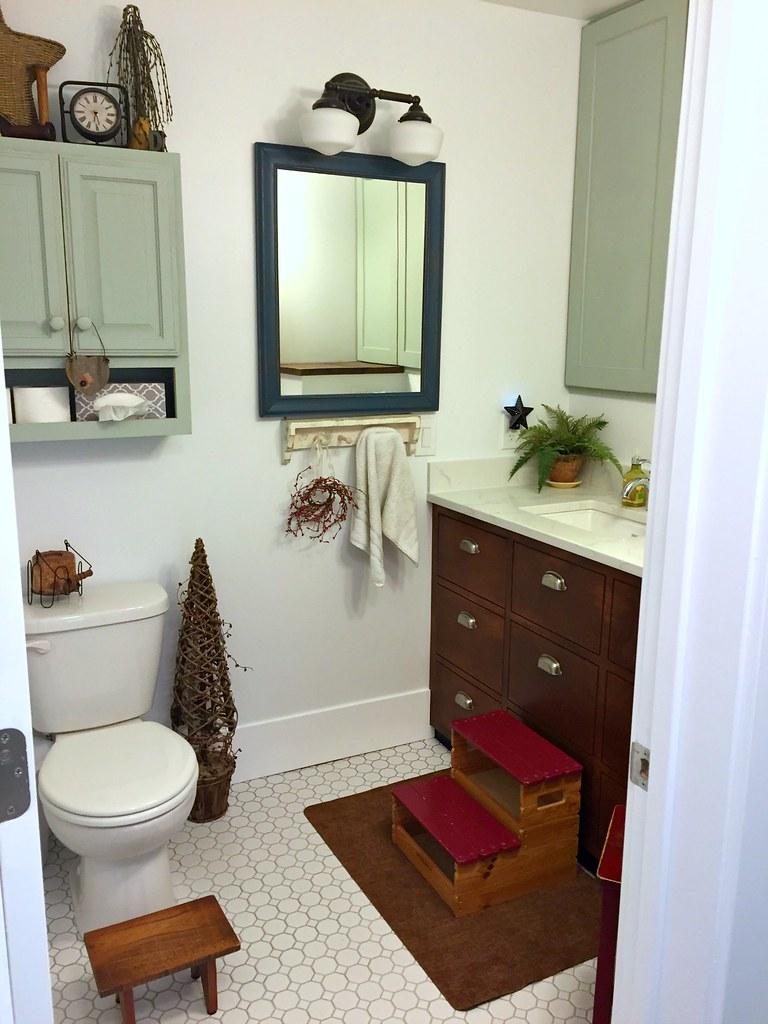 new farmhouse half bathroom