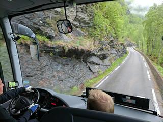 Road was narrow