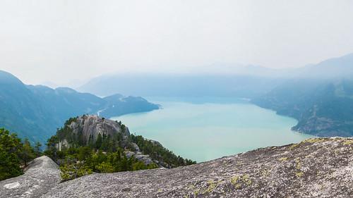 amerique vancouver canada montagne paysage mer america landscape mountain sea squamish colombiebritannique ca brouillard