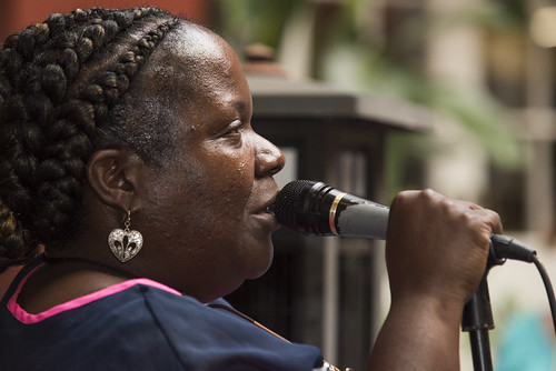 Doreen Ketchens in the courtyard at the WWOZ Groove Gala on September 6, 2018. Photo by Ryan Hodgson-Rigsbee www.rhrPhoto.com