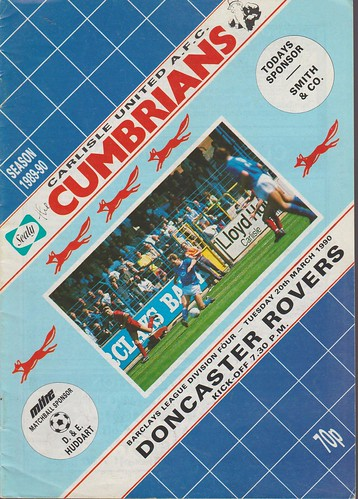 Carlisle United V Doncaster Rovers 20-03-90 | by cumbriangroundhopper