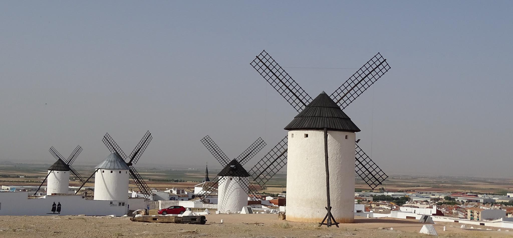 vista de Molinos Sierra de los Molinos en Campo de Criptana Ciudad Real