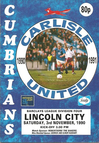 Carlisle United V Lincoln City 3-11-90 | by cumbriangroundhopper