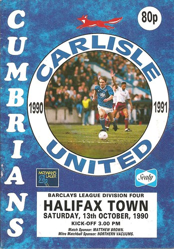 Carlisle United V Halifax Town 13-10-90 | by cumbriangroundhopper