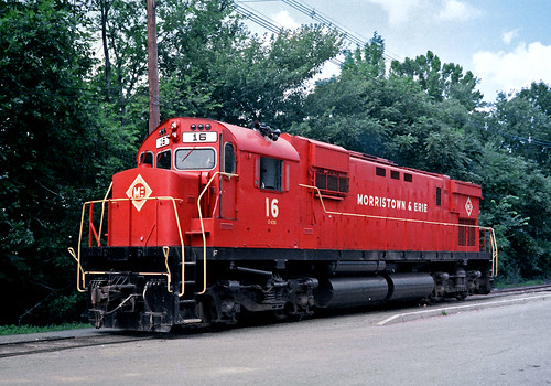 me morristownerie alco c430 morristownnj train railfan railroad me16