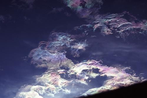 iridescence cloud clouds pastel oil color colour sky iridescentclouds optics atmosphericoptics