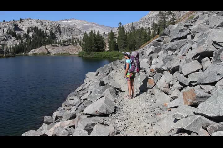 2879 Panorama video of Heather Lake from the Pacific Crest Trail
