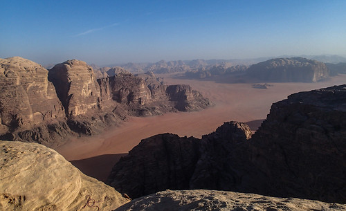 Wadi Rum from high on Jebel Rum | by Masa Sakano